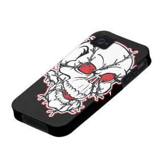 Barbewire Skull iPhone 4 Cases
