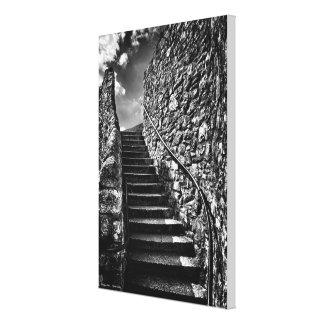 Barbican Steps wrapped canvas Canvas Prints