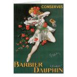 Barbier Dauphin Conserves Vintage Food Ad Art Greeting Card