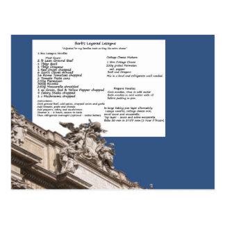 Barb's Lasagna Rome Postcard