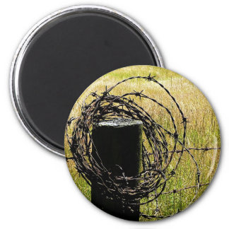 Barbwire Country 6 Cm Round Magnet
