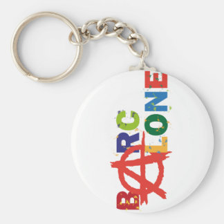 Barcalone Basic Round Button Key Ring