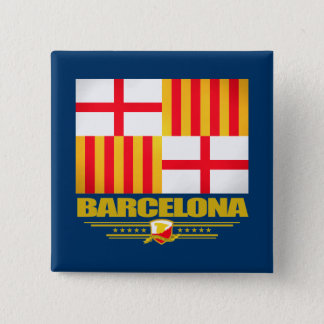 Barcelona 15 Cm Square Badge