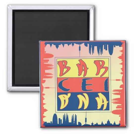 Barcelona 2 Inch Square Magnet