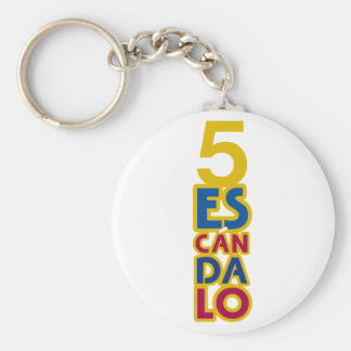 BARCELONA 5 SCANDAL BASIC ROUND BUTTON KEY RING
