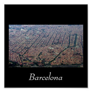Barcelona Aerial Poster