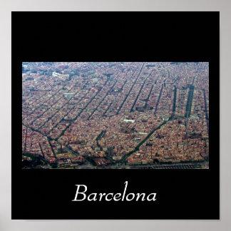 Barcelona Aerial Poster