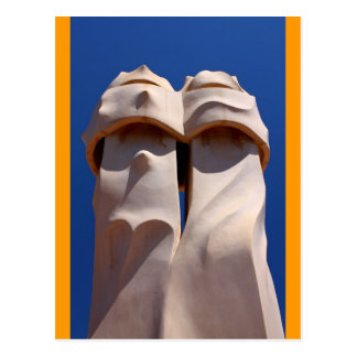 Barcelona, Antoni Gaudi's Chimney Tops Postcard