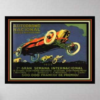 Barcelona Car Race 1923 Advertisement 12 x 16 Poster