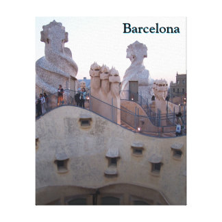 Barcelona Casa Mila by Antoni Gaudi Customized Canvas Print