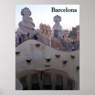 Barcelona Casa Milà by Antoni Gaudí Personalized Poster