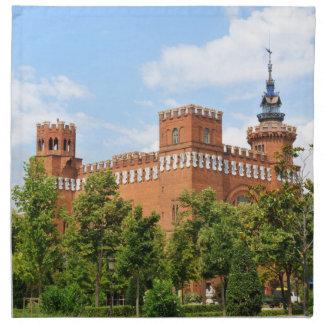 Barcelona castle napkin
