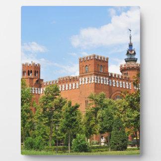 Barcelona castle plaque