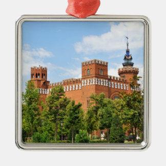 Barcelona castle Silver-Colored square decoration