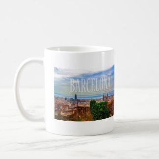 Barcelona city coffee mug