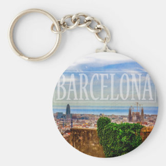 Barcelona city key ring