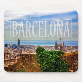 Barcelona city mouse mat