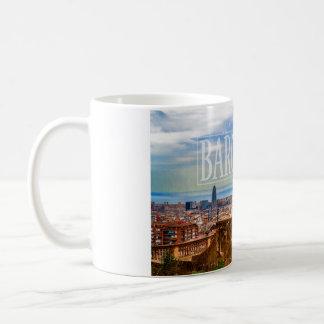 Barcelona city basic white mug