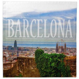 Barcelona city napkin
