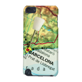 Barcelona City Pin Map iPod Touch 5G Cases