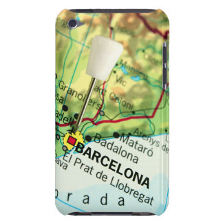 Barcelona City Pin Map iPod Touch Covers