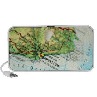 Barcelona City Pin Map iPhone Speaker