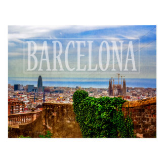 Barcelona city postcard