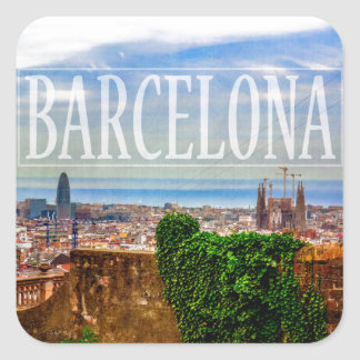 Barcelona city square sticker