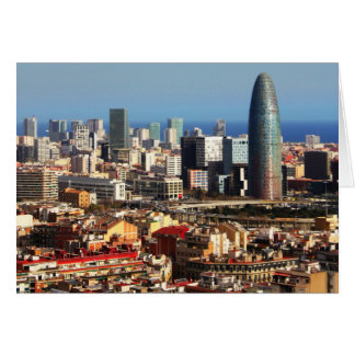 Barcelona cityscape card