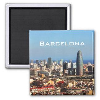 Barcelona cityscape magnet