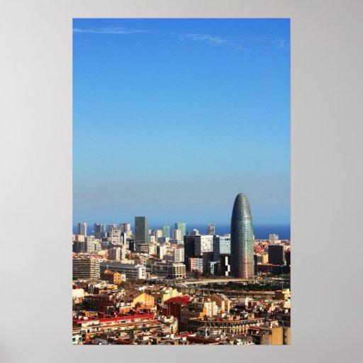 Barcelona cityscape posters