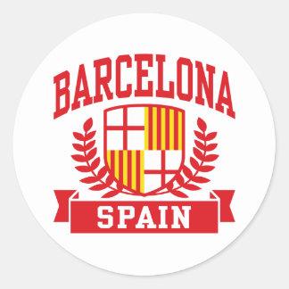 Barcelona Classic Round Sticker