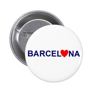 Barcelona coils 6 cm round badge