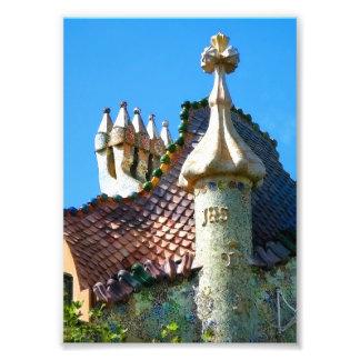 Barcelona, detail of Gaudi architecture Photo