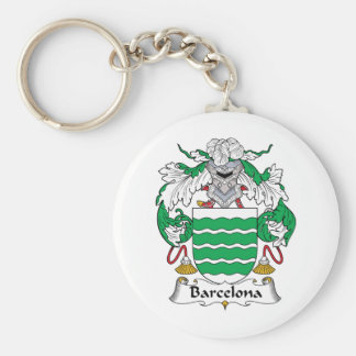 Barcelona Family Crest Key Ring