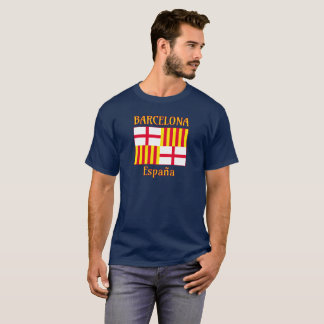 Barcelona flag in red white and yellow T-Shirt