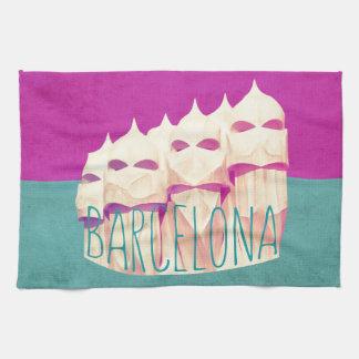 Barcelona Gaudi Paradise Tea Towel