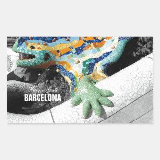 Barcelona Gaudi Park Guell Rectangular Sticker
