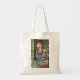 Barcelona Gothic Quarter Shopping Girl Tote Bag