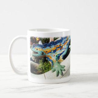 Barcelona Lizard Hand Mosaics Coffee Mug