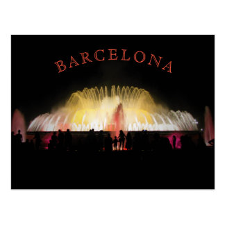 Barcelona Montjuic Magic Fountain at night Postcard