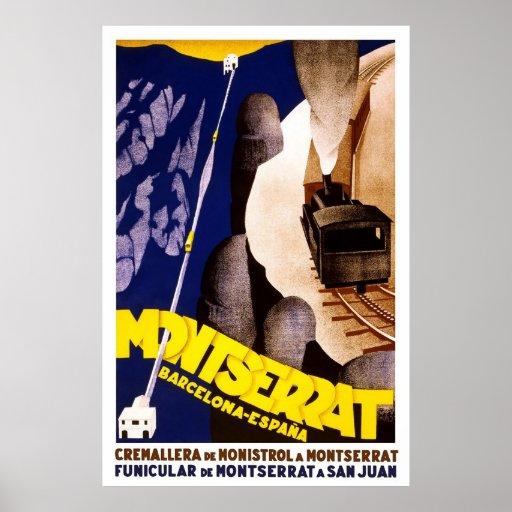 Barcelona Montserrat Spain Poster