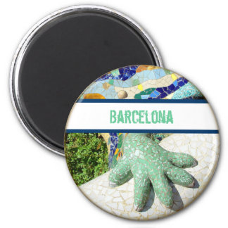 Barcelona Mosaic Lizard magnet Refrigerator Magnet