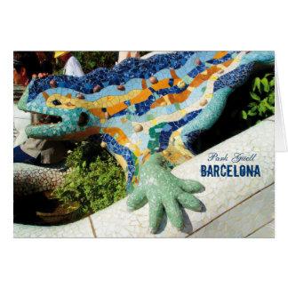 Barcelona Park Guell Mosaics Card