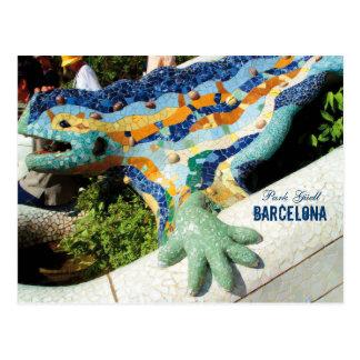 Barcelona Park Guell Mosaics Postcard