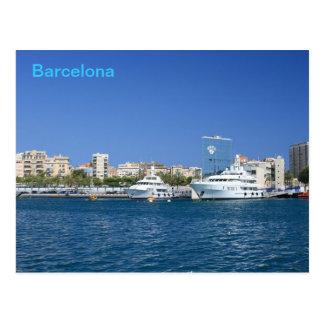 Barcelona Port Postcard