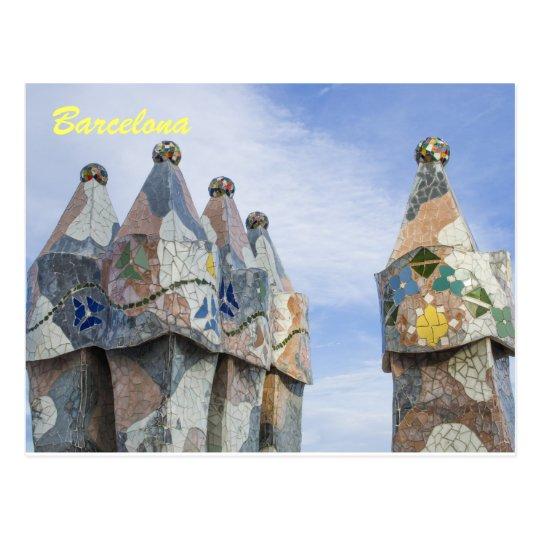 Barcelona post card, casa batilo postcard