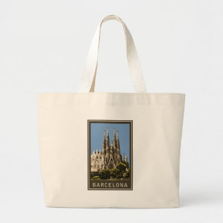 Barcelona Sagrada Familia Large Tote Bag
