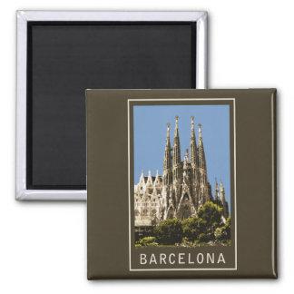 Barcelona Sagrada Familia Square Magnet