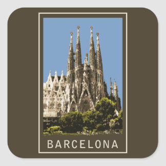 Barcelona Sagrada Familia Square Sticker